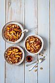 Millet porridge with caramelized nectarines