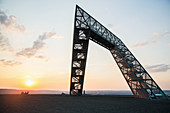 The Saar Polygon, a monument commemorating the coal mining industry, Saarland, Germany