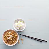 Ananascurry mit Reis