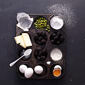 Zutaten für Brombeer-Cupcakes