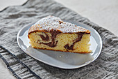 A piece of marble cake