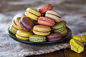 Verschiedene Macarons