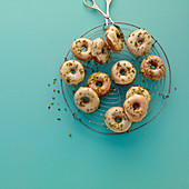 Pistachio donuts