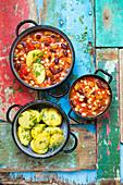 Bean stew with seitan and potatoes
