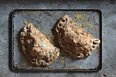 Wholemeal vegetable pasties