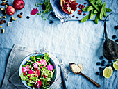 Superfood salad with beetroot and pomegranate