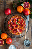 Blood orange cake almond cake