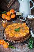 Tangerine upside down cake