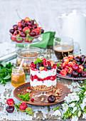 Granola berry yoghurt trifle