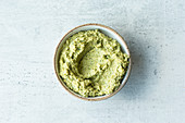 Green broccoli and edamame spread