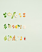 Ideal compositions for vegetable dishes