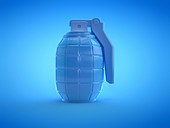 Hand grenade, illustration