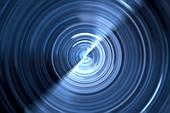 Rotating light source, fractal illustration