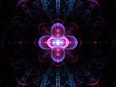 Nuclear cold fusion, abstract illustration