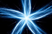 Five pointed star, abstract illustration