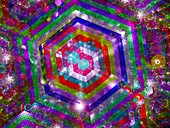 Nanotechnology, abstract illustration