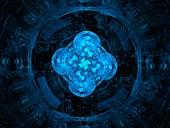 Artificial intelligence, fractal illustration