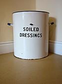 Victorian hospital soiled dressings bin