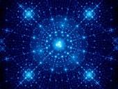 Winter, fractal abstract illustration