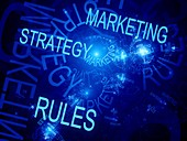 Marketing strategy rules, abstract illustration