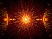 Fire mandala, abstract fractal illustration