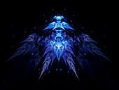 Alien fractal shape, abstract illustration