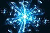 Quantum fractal abstract illustration