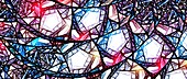 Stained glass, abstract illustration