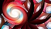 Spiral, abstract illustration