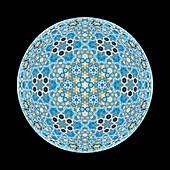 Mosaic star, abstract illustration