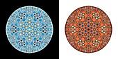 Mosaic stars, abstract illustration