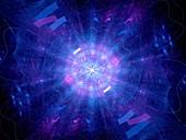 Higgs boson, abstract illustration