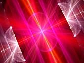Multidimensional energy field, abstract illustration