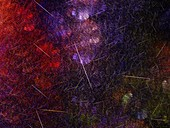 Meteor shower, abstract fractal illustration