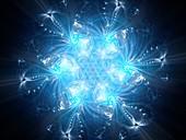 Snowflake, abstract fractal illustration