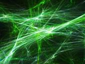 Plasma explosion, abstract illustration