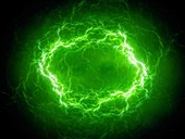 High energy plasma lightning, abstract illustration
