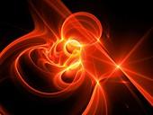 High power plasma, abstract illustration