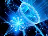 Quantum computer, abstract illustration