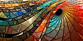 Stained-glass, abstract illustration