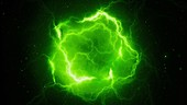 High energy lightning, abstract illustration