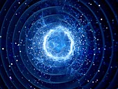 Gravitational wave, abstract illustration