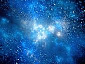 Nebula, abstract illustration
