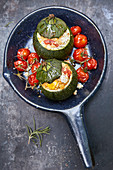 Stuffed pumpkin with millet and vegetables