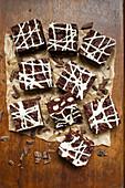 Vegan brownies with macadamia nuts