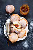 Donuts with rosehip jam