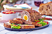 American meatloaf with eggs