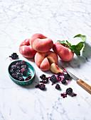 Donut and Peach Blackberries