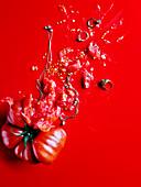 Smashed Heirloom tomatoes