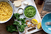 Kale pesto with walnuts